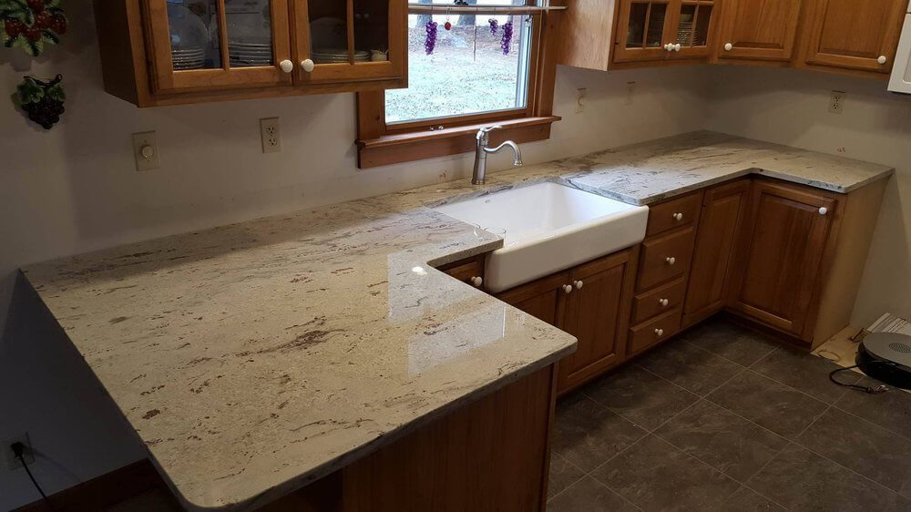 Large Countertop Installation for Barn Sink in Marion IL