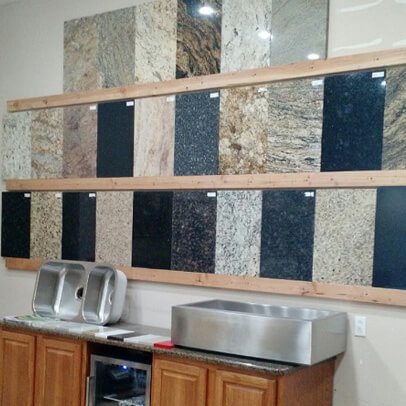 Display for many different countertops in Marion IL