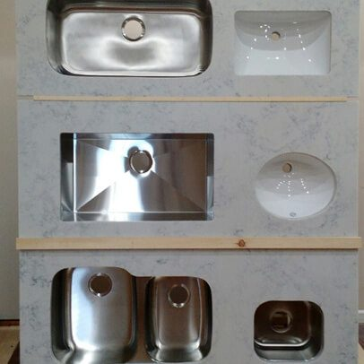 Display of countertops with sink in Marion Illinois